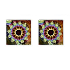 Love Energy Mandala Cufflinks (square) by designworld65