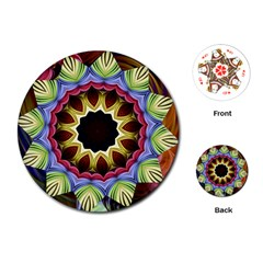 Love Energy Mandala Playing Cards (round)  by designworld65