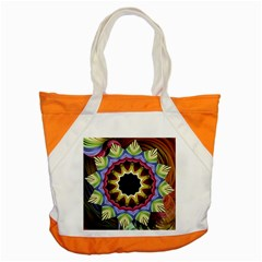 Love Energy Mandala Accent Tote Bag by designworld65