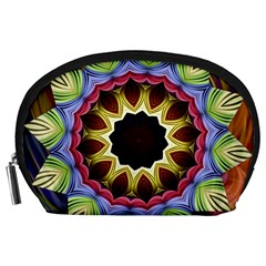 Love Energy Mandala Accessory Pouches (large)  by designworld65