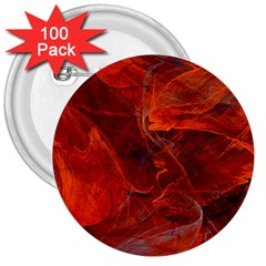 Swirly Love In Deep Red 3  Buttons (100 Pack)  by designworld65