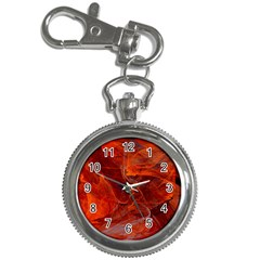 Swirly Love In Deep Red Key Chain Watches by designworld65