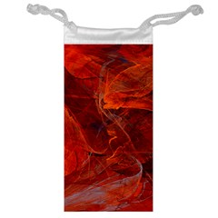 Swirly Love In Deep Red Jewelry Bag by designworld65