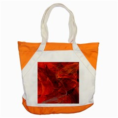 Swirly Love In Deep Red Accent Tote Bag by designworld65