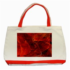 Swirly Love In Deep Red Classic Tote Bag (red) by designworld65