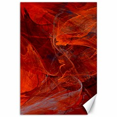 Swirly Love In Deep Red Canvas 12  X 18   by designworld65