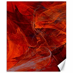 Swirly Love In Deep Red Canvas 20  X 24   by designworld65