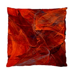 Swirly Love In Deep Red Standard Cushion Case (one Side) by designworld65