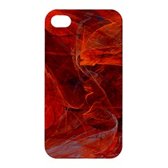 Swirly Love In Deep Red Apple Iphone 4/4s Premium Hardshell Case by designworld65
