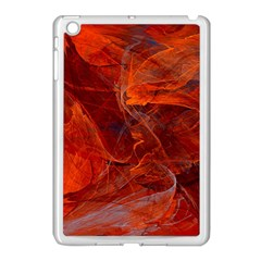 Swirly Love In Deep Red Apple Ipad Mini Case (white) by designworld65