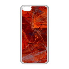 Swirly Love In Deep Red Apple Iphone 5c Seamless Case (white) by designworld65