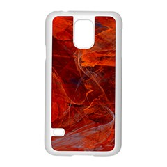 Swirly Love In Deep Red Samsung Galaxy S5 Case (white) by designworld65