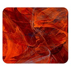 Swirly Love In Deep Red Double Sided Flano Blanket (small)  by designworld65