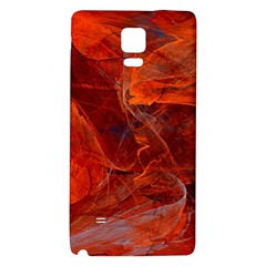 Swirly Love In Deep Red Galaxy Note 4 Back Case by designworld65