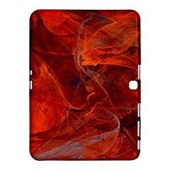 Swirly Love In Deep Red Samsung Galaxy Tab 4 (10 1 ) Hardshell Case  by designworld65