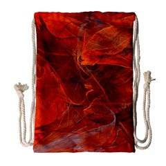 Swirly Love In Deep Red Drawstring Bag (large) by designworld65