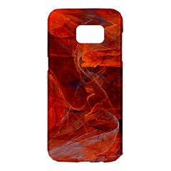 Swirly Love In Deep Red Samsung Galaxy S7 Edge Hardshell Case by designworld65