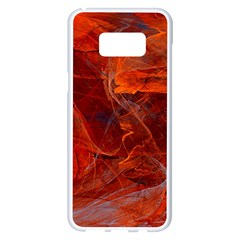 Swirly Love In Deep Red Samsung Galaxy S8 Plus White Seamless Case by designworld65
