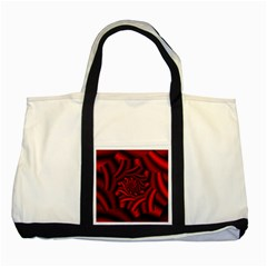 Metallic Red Rose Two Tone Tote Bag by designworld65