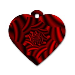 Metallic Red Rose Dog Tag Heart (one Side) by designworld65
