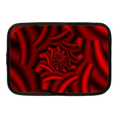 Metallic Red Rose Netbook Case (medium)  by designworld65