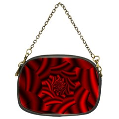 Metallic Red Rose Chain Purses (one Side)  by designworld65
