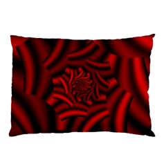 Metallic Red Rose Pillow Case (two Sides) by designworld65