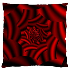 Metallic Red Rose Large Cushion Case (two Sides)