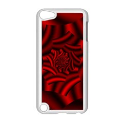 Metallic Red Rose Apple Ipod Touch 5 Case (white) by designworld65
