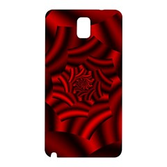 Metallic Red Rose Samsung Galaxy Note 3 N9005 Hardshell Back Case by designworld65
