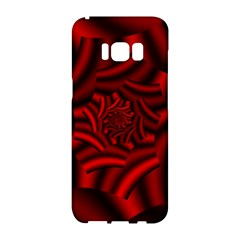 Metallic Red Rose Samsung Galaxy S8 Hardshell Case  by designworld65