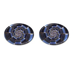 Midnight Crazy Dart Cufflinks (oval) by designworld65