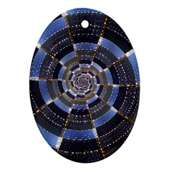 Midnight Crazy Dart Oval Ornament (two Sides) by designworld65