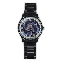 Midnight Crazy Dart Stainless Steel Round Watch by designworld65