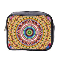 Peaceful Mandala Mini Toiletries Bag 2 Side by designworld65