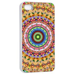 Peaceful Mandala Apple Iphone 4/4s Seamless Case (white) by designworld65