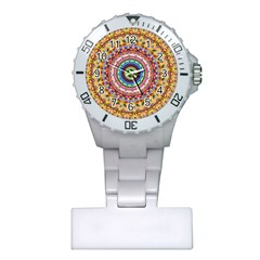 Peaceful Mandala Plastic Nurses Watch by designworld65