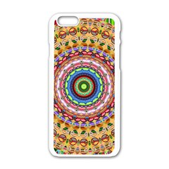 Peaceful Mandala Apple Iphone 6/6s White Enamel Case by designworld65