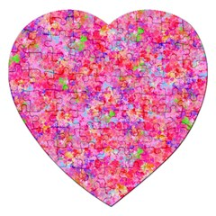 The Big Pink Party Jigsaw Puzzle (heart) by designworld65