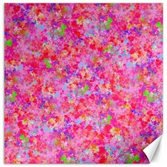 The Big Pink Party Canvas 12  X 12   by designworld65