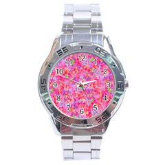 The Big Pink Party Stainless Steel Analogue Watch by designworld65