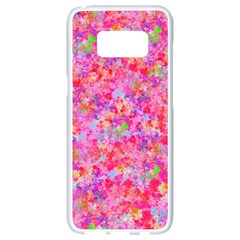 The Big Pink Party Samsung Galaxy S8 White Seamless Case by designworld65