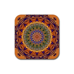 Powerful Mandala Rubber Coaster (square)  by designworld65