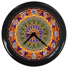 Powerful Mandala Wall Clocks (black) by designworld65