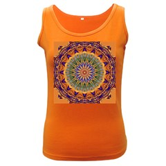 Powerful Mandala Women s Dark Tank Top by designworld65