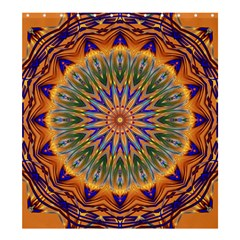 Powerful Mandala Shower Curtain 66  X 72  (large)  by designworld65