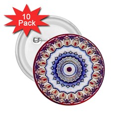 Romantic Dreams Mandala 2 25  Buttons (10 Pack)  by designworld65