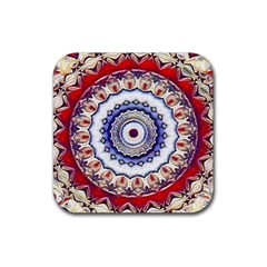Romantic Dreams Mandala Rubber Coaster (square)  by designworld65