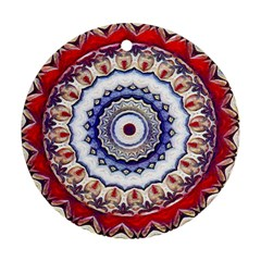 Romantic Dreams Mandala Round Ornament (two Sides) by designworld65