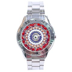 Romantic Dreams Mandala Stainless Steel Analogue Watch by designworld65